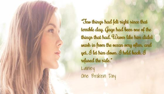 Teaser # 1 One Broken Day Lainey